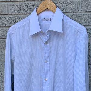 Charvet Button Down White Collared Dress Shirt